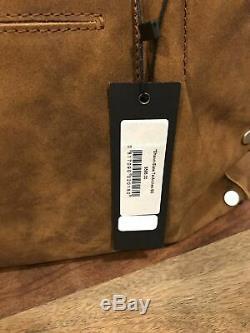 Hammitt Shawn Satchel Handbag Slate Tejus Arches Buffed Brown/Gray Silver Hrdwr