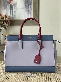 Kate Spade Cameron Leather Satchel Crossbody Shoulder Bag Lilac $399