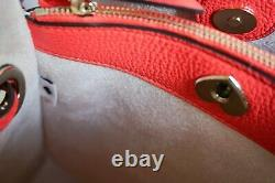 Kate Spade Marti Large Bucket Pebbled Leather Shoulder Tote Bag Red