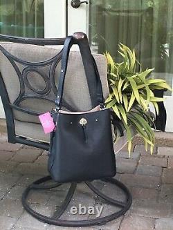 Kate Spade Marti Large Bucket Shoulder Bag Tote Purse Black Leather Gold $399