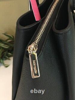Kate Spade Monet Large Triple Compartment Tote Shoulder Bag Black Leather $399