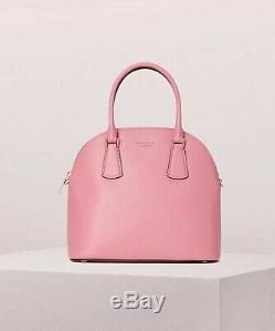 Kate Spade New York Sylvia Large Dome Satchel Leather Bag Blistery Pink $298
