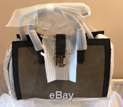 Lauren Ralph Lauren Brigitte Tote /Handbag Olive & Black (BNWT)