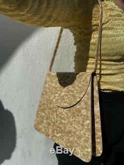 MARYAM NASSIR ZADEH MNZ NWQ Sophie Blonde PVC Tortoise Shell Shoulder Bag Purse