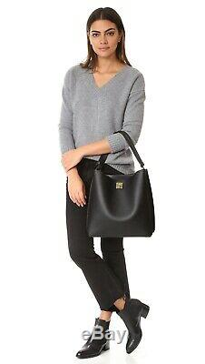 MCM Milla Black Grained Leather Large Hobo Bag $830.00 Missing Shoulder Strap