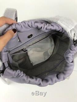 MICHAEL KORS Angelina Convertible Large Leather Shoulder Bag Color- Lilac $368