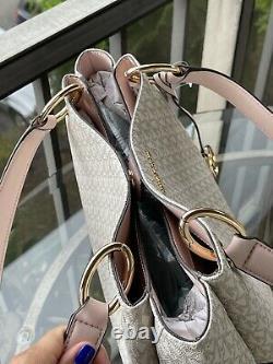 MICHAEL KORS WOMEN LARGE SHOULDER TOTE SATCHEL BAG PINK VANILLA HANDBAG+Wallet