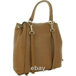MICHAEL Michael Kors Womens Viv Tan Leather Dome Handbag Large BHFO 8824