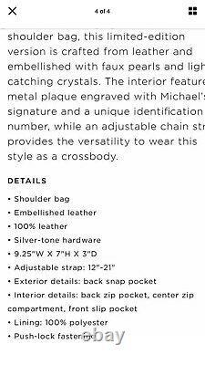 MIchael Kors Whitney Embellished Pearl Crystal Convertible Handbag $795