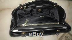 Michael Kors 100% SUSANNAH Bag Black Lamb Leather Quilted TAGS NEW