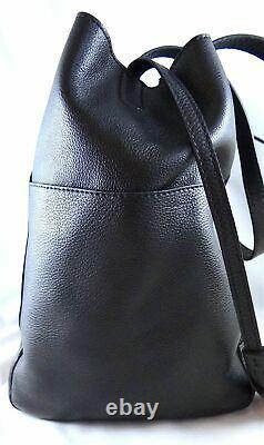 Michael Kors Ashbury Large Black Pebbled Leather Grab Bag, Shoulder Bag