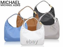 Michael Kors Fulton Large Hobo Shoulder Bag Black Leather 35S0GFTH3L NWT $398