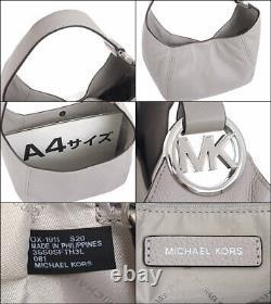 Michael Kors Fulton Large Hobo Shoulder Bag Gray Leather 35S0SFTH3L NWT $398
