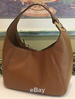 Michael Kors Fulton Large Hobo Shoulder Bag Purse Mk Luggage Brown Leather $398