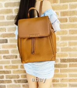 Michael Kors Ginger Large Backpack Abbey Drawstring Pebbled Leather Luggage