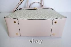 Michael Kors Gramercy Large Satchel Pvc Leather Shoulder Bag Mk Vanilla Pink