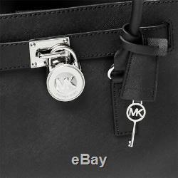 Michael Kors Hamilton Large Ns Black Silver Saffiano Leather Tote Bag Nwt