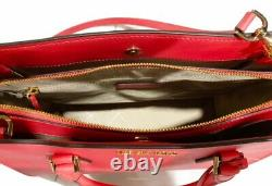 Michael Kors Hope Large Satchel Bag Crossbody Coral Leather