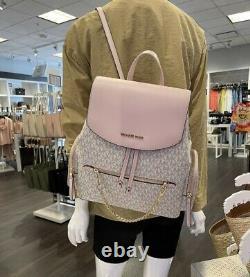 Michael Kors Jet Set Large PVC Chain Backpack Flap Book Bag NWT