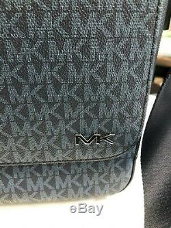 Michael Kors Jet Set Signature Mens Cooper Laptop Messenger Bag Blue Multi $448