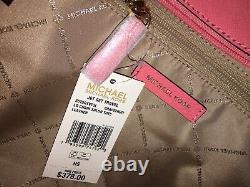 Michael Kors Jet Set Travel Large Chain Shoulder Bag Tote Grapefruit Leather