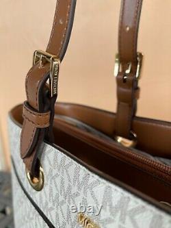 Michael Kors Jet Set Travel Large Multifunction Commuter Tote Bag Mk Vanilla