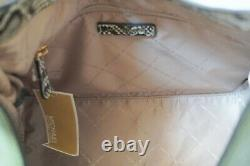 Michael Kors Joan Large Slouchy Shoulder Hobo Leather Bag Green Exotic Accents