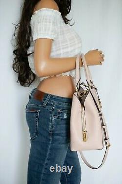 Michael Kors Kimberly Large Satchel Shoulder Pebbled Leather Bag Pink Blossom