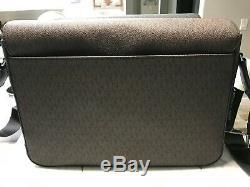 Michael Kors Mens Signature Harrison Laptop Messenger Commuter Bag $448 New