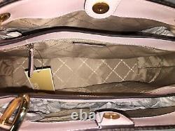 Michael Kors Nicole Large Shoulder Tote Bag Mk Brown Signature Blush Pink $448