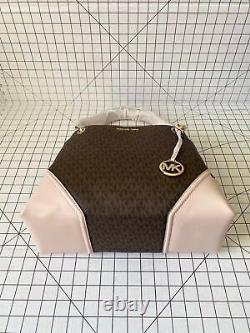 Michael Kors Nicole Large Shoulder Tote Signature MK Bag Handbag