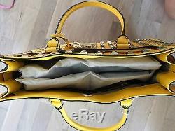 Michael Kors Purse Citrus Pyramid Studded Saffino Leather Hamilton Tote NWT $450