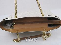 Michael Kors Signature Jet Set Travel Chain Shoulder Tote + Continental Wallet