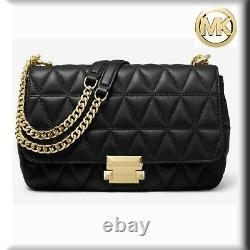 Michael Kors Sloan Large Quilted-Leather Shoulder Bag Mk UK RRP £330