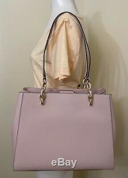 Michael Kors Sofia Blossom Pink Leather Large Shoulder Tote Bag Purse