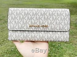 Michael Kors Sofia Susannah Large Chain Tote Vanilla MK + Trifold Wallet