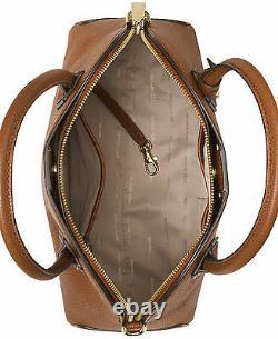 Michael Kors Studio Mercer Large Dome Luggage Leather Satchel Bag