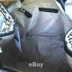 Michael Kors Women Lady Girls Large Jacquard Leather Travel Backpack Shoulder