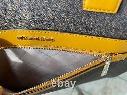 Michael Kors Women Large PVC Leather Shoulder bag Handbag Tote Crossbody Brown