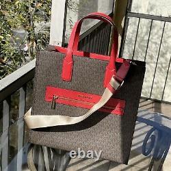 Michael Kors Women Large Shoulder bag Handbag Tote Crossbody Messenger Brown MK