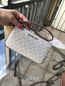 Michael Kors Women Leather Shoulder Tote Handbag Purse Bag+ Wristlet id Wallet