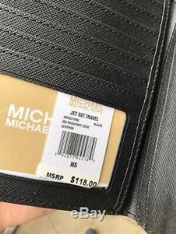 Michael Kors Women Leather Shoulder Tote Handbag Purse Satchel +Passport Wallet