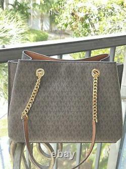 Michael Kors Women Pvc Leather Large Satchel Shoulder Bag Purse Handbag Tote Mk