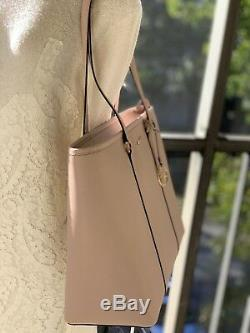 Michael Kors Womens Large XL Shoulder Tote Leather Handbag Bag Purse Pink Ballet