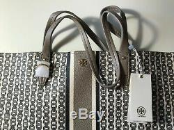 NEW Tory Burch 60497-036 Gemini Link Large Tote Bag Purse FRENCH GRAY $298