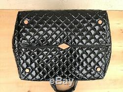 NWOT/B MZ Wallace Large Metro Tote, Magnet / Black Lacquer, 14 x 14 x 11