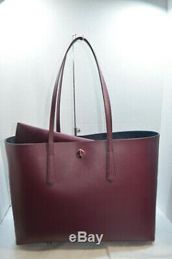 NWT $228 Kate Spade Molly Large Work Tote & Pouch Sangria Burgundy