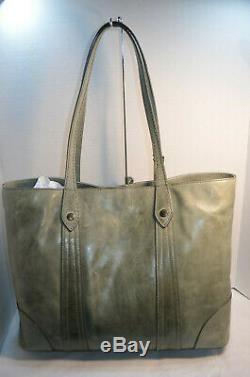 NWT $358 Frye Melissa FERN Distressed Leather Large Shopper Tote Shoulder Bag