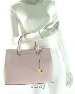 NWT$398.00 Michael Kors Savannah LARGE Leather Satchel Shoulder Bag in Blossom