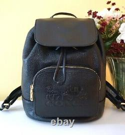 NWT $450 Coach Jes Leather Backpack, withHorse and Carriage Motif, 90399, Im/Black